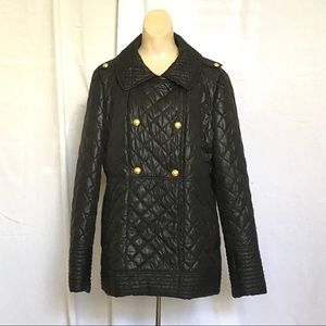Via Spiga black puffer quilted coat -XL-